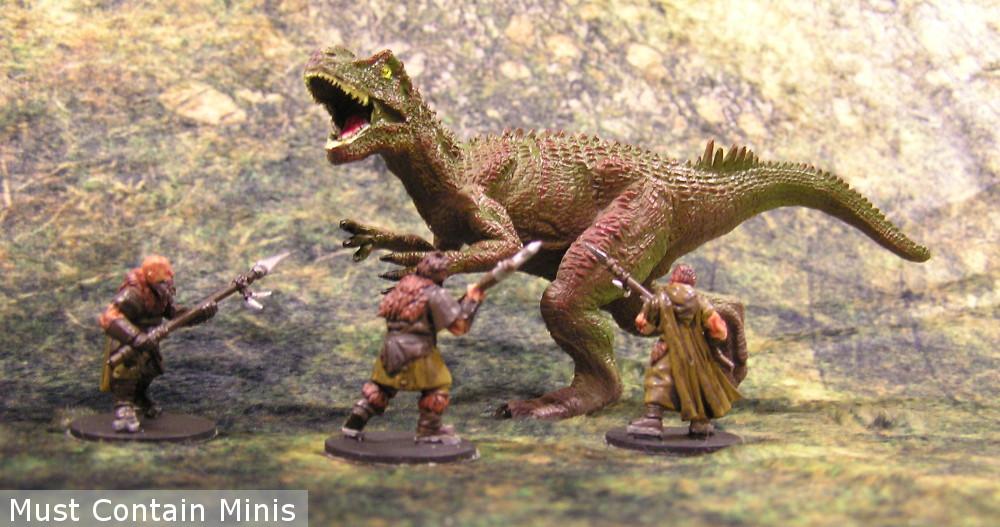 Dollar Store Dinosaur in Frostgrave Ghost Archipelago. Budget gaming.