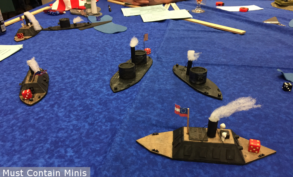 Union vs Confederate American Civil War Ship Combat