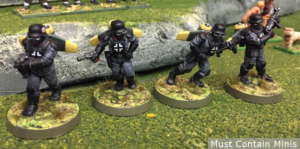 Proxy Figures in Konflikt '47 Miniatures - German jump troops
