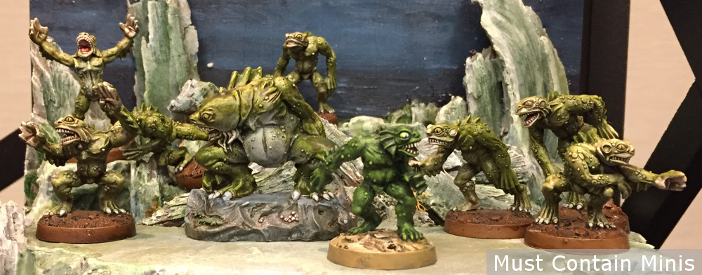 28mm Cthulhu Deep One Miniatures