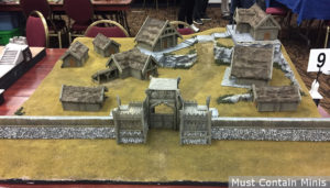 Hobbit Miniatures Game Protected Village Battle Board
