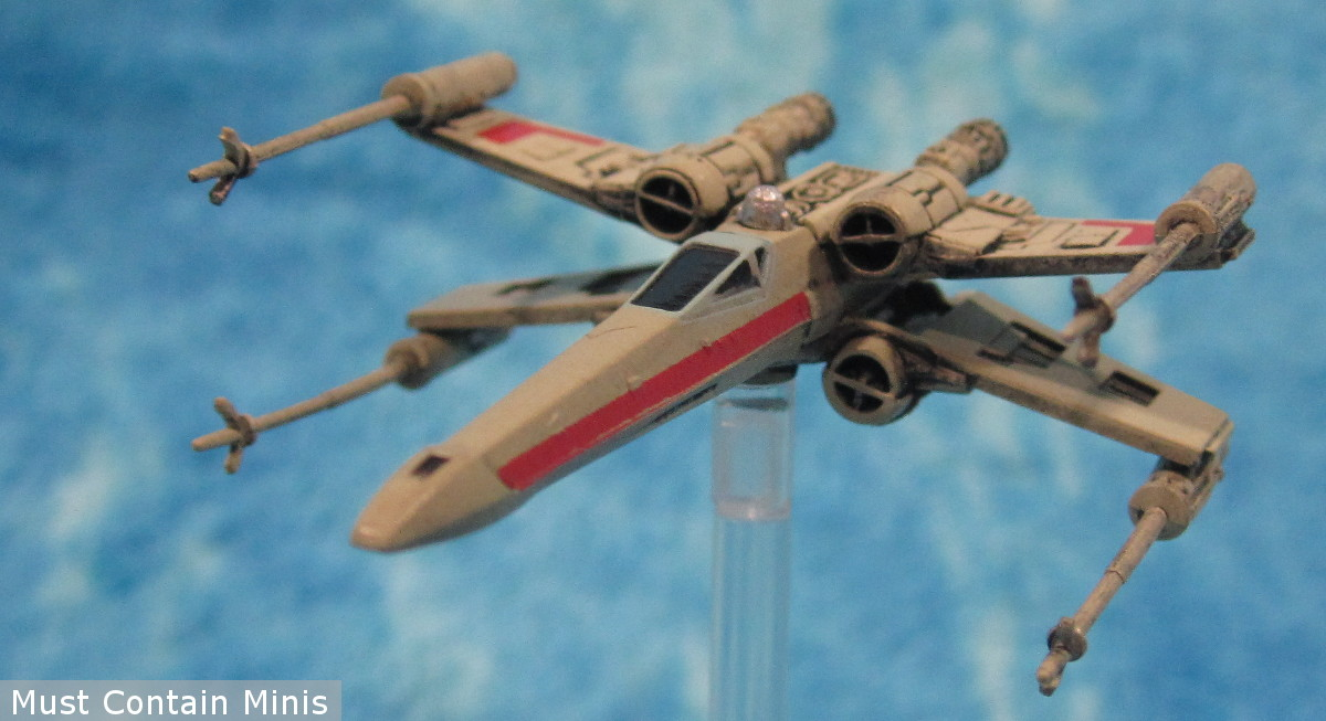 X-Wing Miniature in atmospheric combat