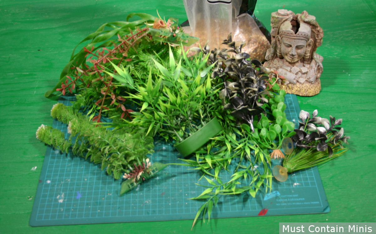 Components to make 28mm scratch built gaming jungle terrain