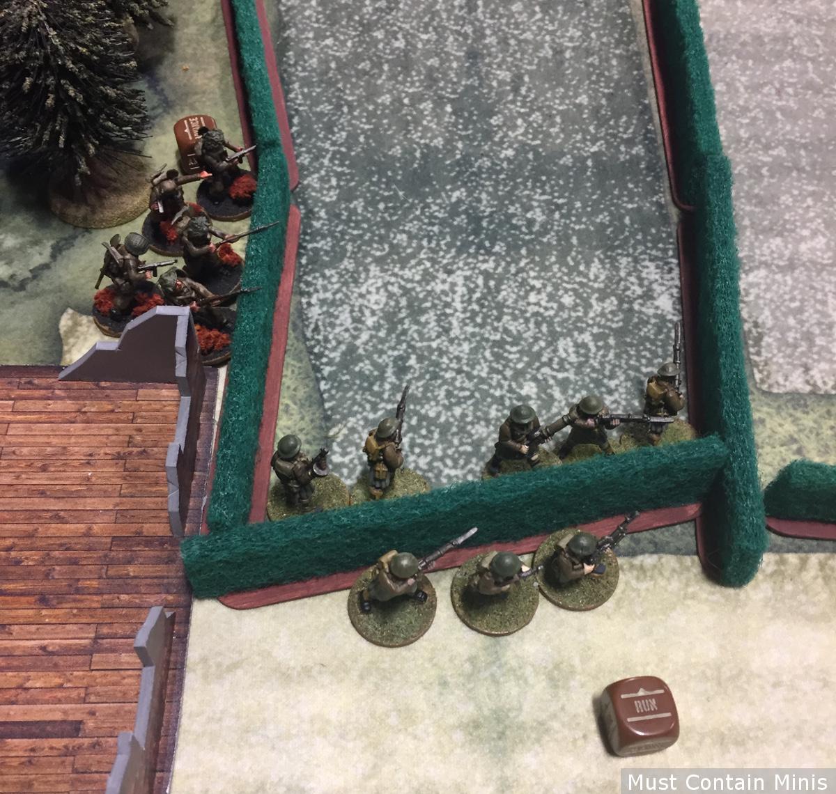 Bolt Action on a Cigar Box Battle Mat