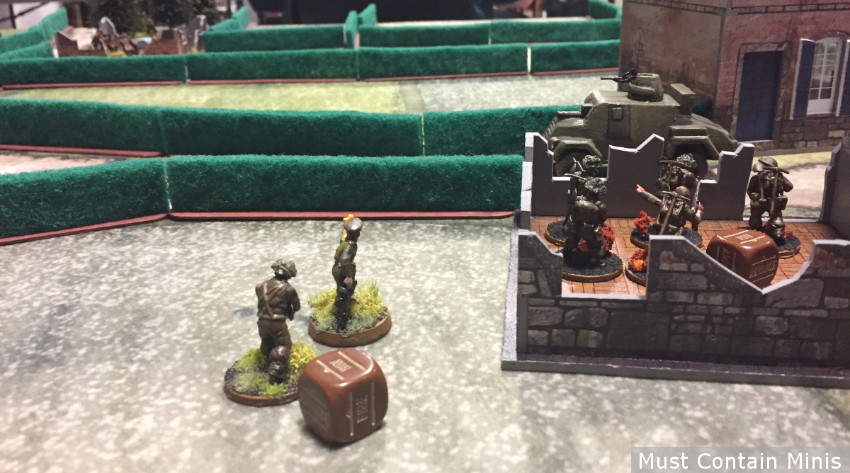 British Infantry on the Battle Field - Warlord Games - Cigar Box Battle Mats