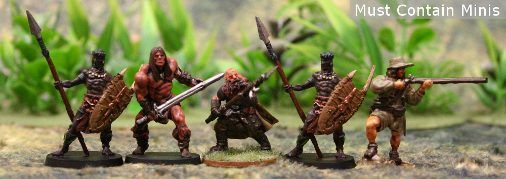 Scale Comparison of Bêlit's Guards from Conan to North Star Military Figures (Frostgrave 28mm) and Blood and Plunder (by Firelock Games - 32mm)