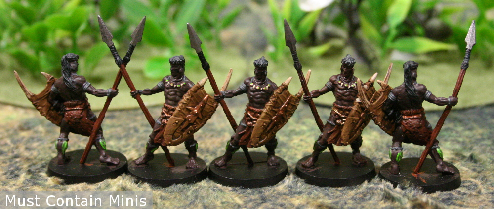 Bêlit's Guards for Conan - Retail edition painted miniatures showcase