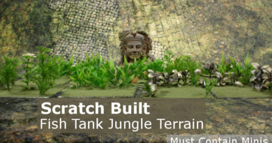 Scratch Built 28mm Jungle Terrain using Fish tank Plants