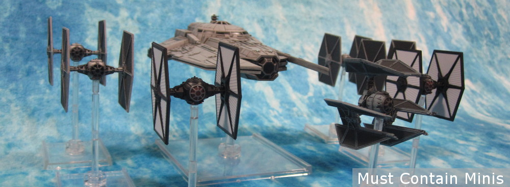 VT-49 Decimator in X-Wing Miniatures Game with an escort of TIE Fighters