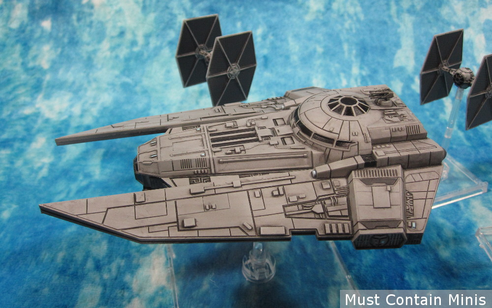 VT-49 Decimator with TIE Fighters for X-Wing Miniatures Game