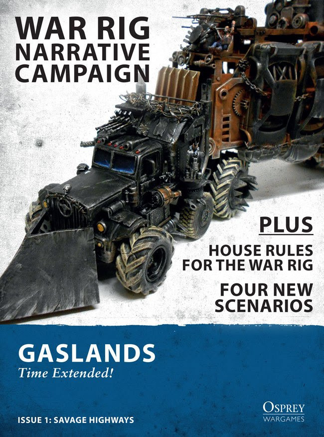 Cover to the First Free Gaslands Expansion by Osprey Games