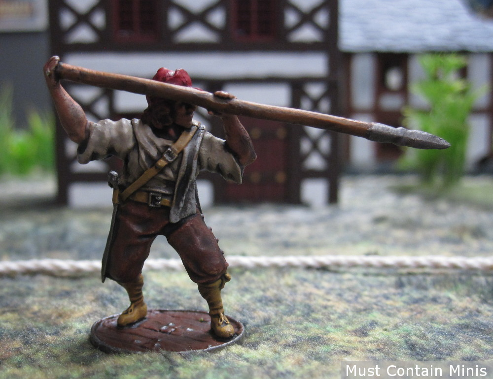 Spanish Lancero Miniature for Blood and Plunder by Firelock Games