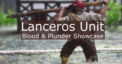 Lanceros Unit Showcase - Blood and Plunder Painted Miniatures