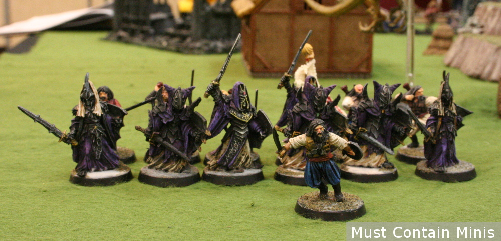 Civilian leading evil troops 28mm miniatures