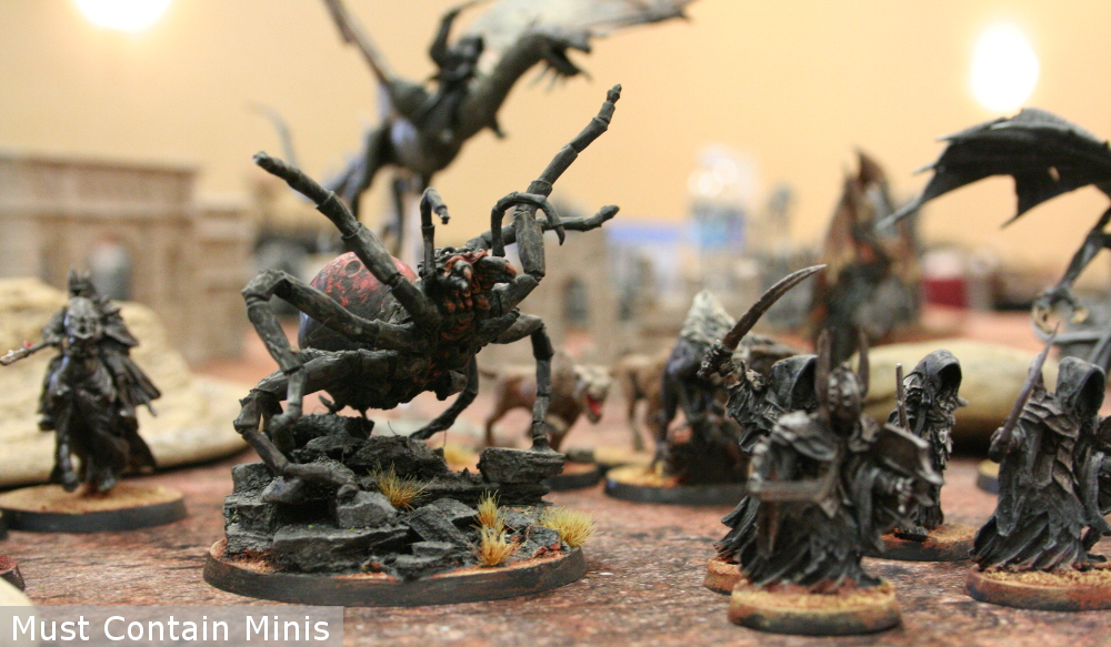 Evil Army with a Spider in the Hobbit Strategy Battles Miniatures Game
