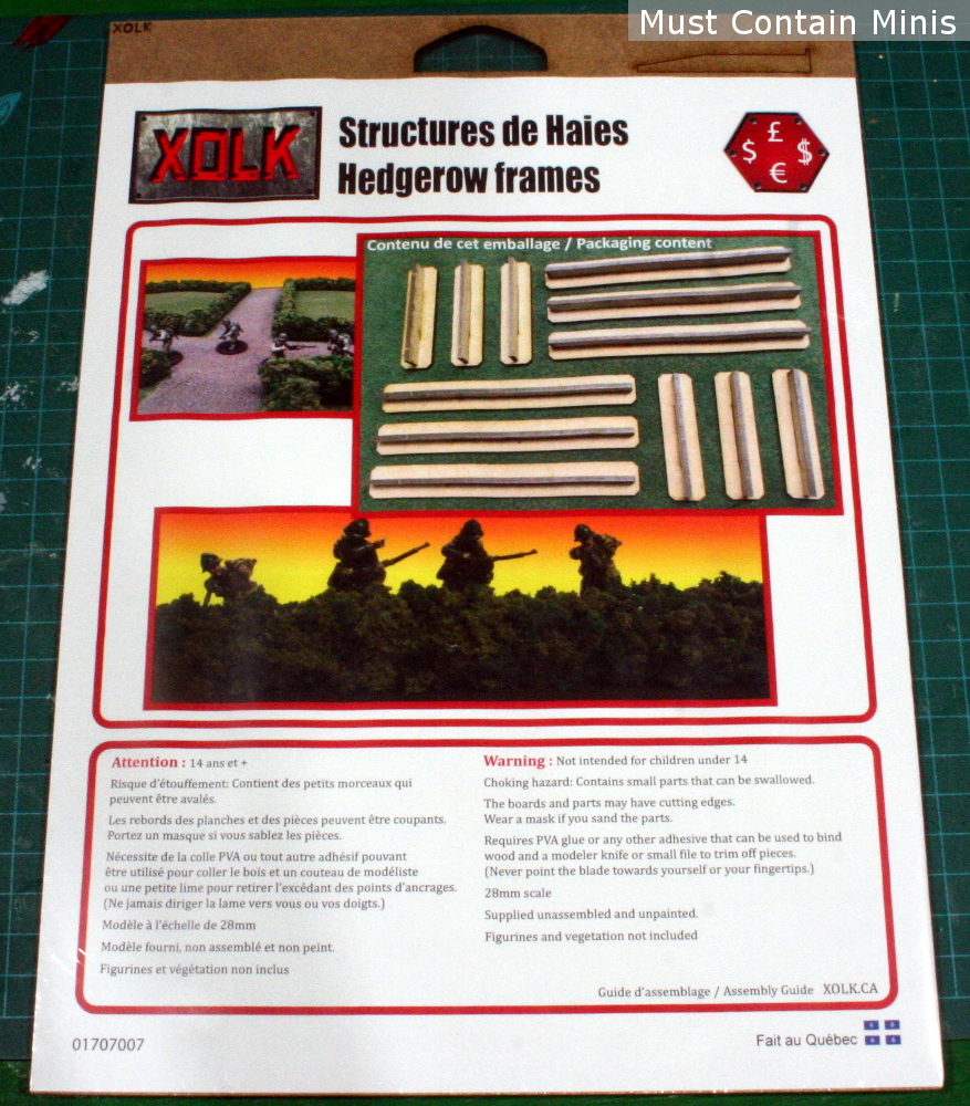 Hedge Rows MDF Terrain Kit for 28mm Gaming - Bolt Action - XOLK