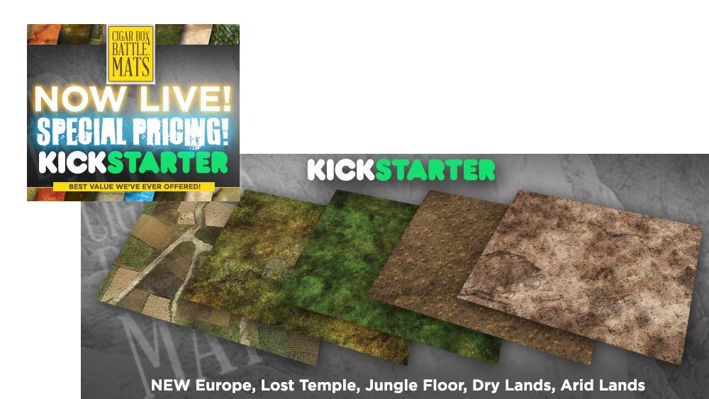 Cigar Box Battle Mat's Second Kickstarter