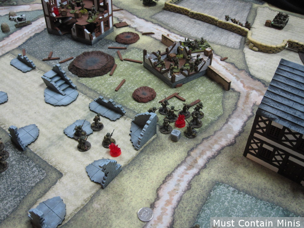 Awesome Bolt Action Table using MDF Terrain by XOLK and a Cigar Box Battle Mat