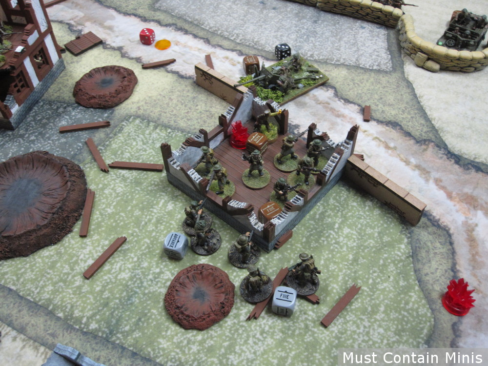 Canadians lose to British in a game of Bolt Action