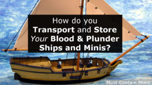 How do you Store and Transport your Blood and Plunder Minis and Ships?