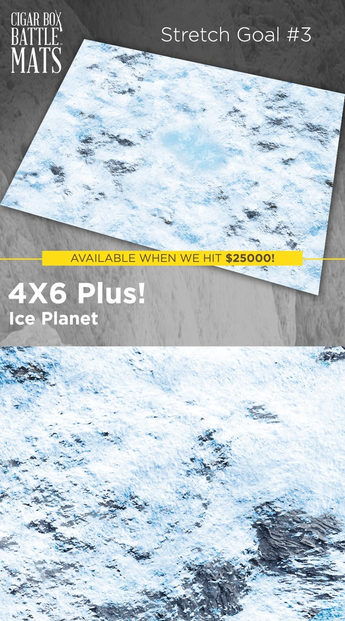Ice Planet Gaming Mat