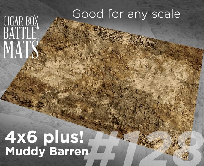 Muddy Barren gaming mat by Cigar Box Battle Mats