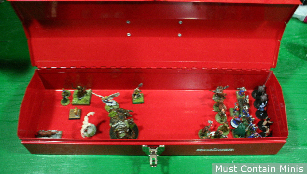 Forstgrave Miniatures Transportation Case - Metal Tool Box and Magnets.