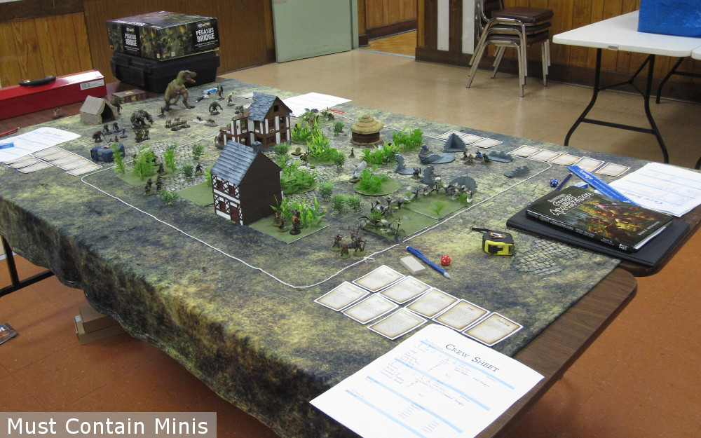 Demo table for Frostgrave: Ghost Archipelago by Osprey Games