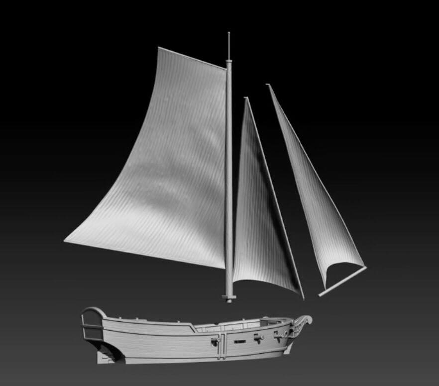 Oak & Iron Miniature Game Sloop Preview