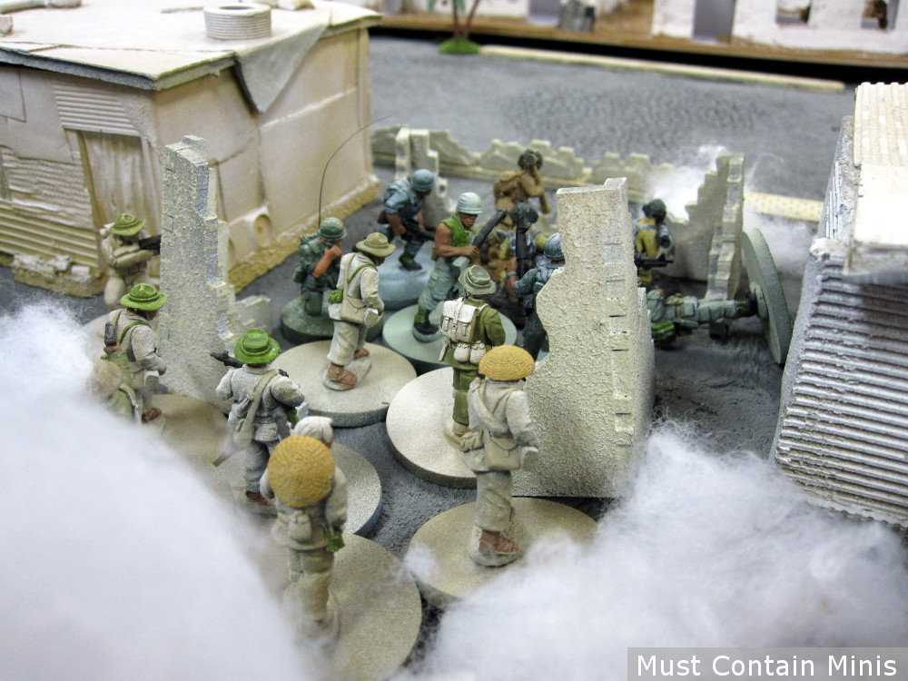 Charlie Company by RAFM in 28mm - demo game at a convention