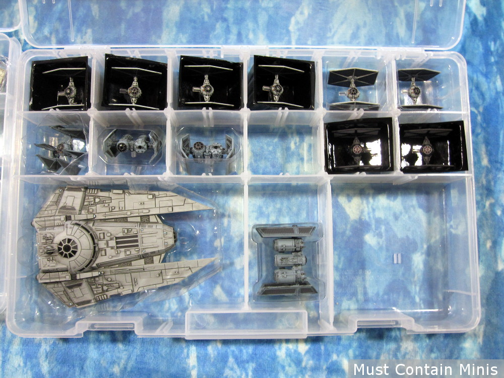 Storage and Transportation of X-Wing Imperial Miniatures