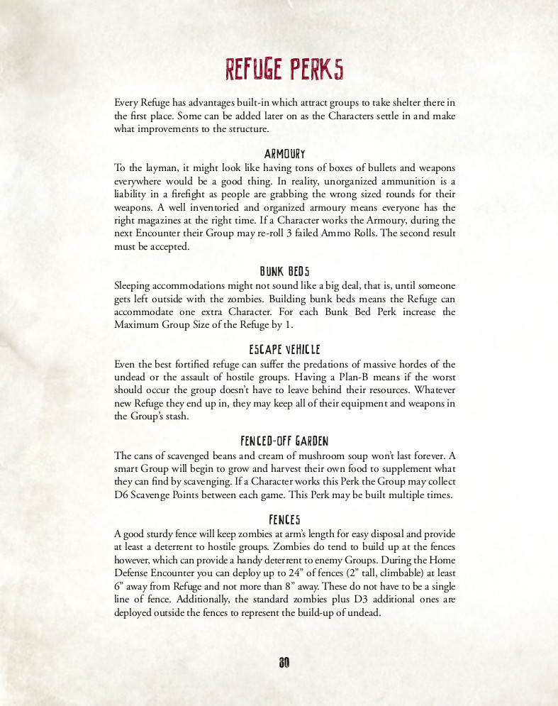 Refuge Perks for Last Days Zombie Apocalypse - Review