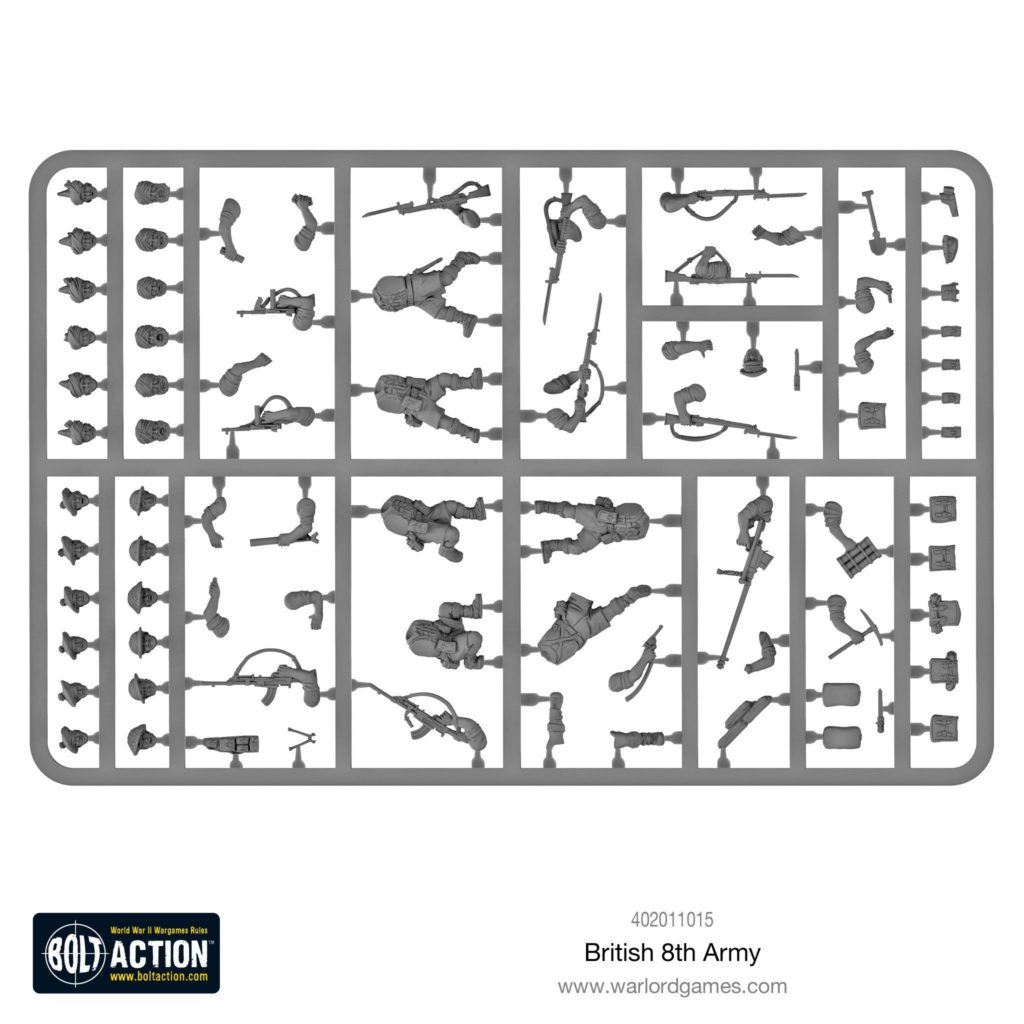 Bolt Action Desert British Infantry Sprue