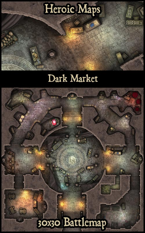 Underground Market Place RPG and Gaming Tiles / Maps