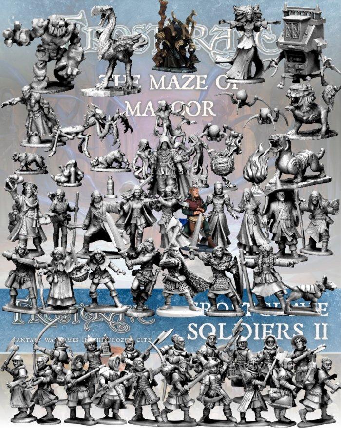 Frostgrave Nickstarter Full Maze of Malcor Collection