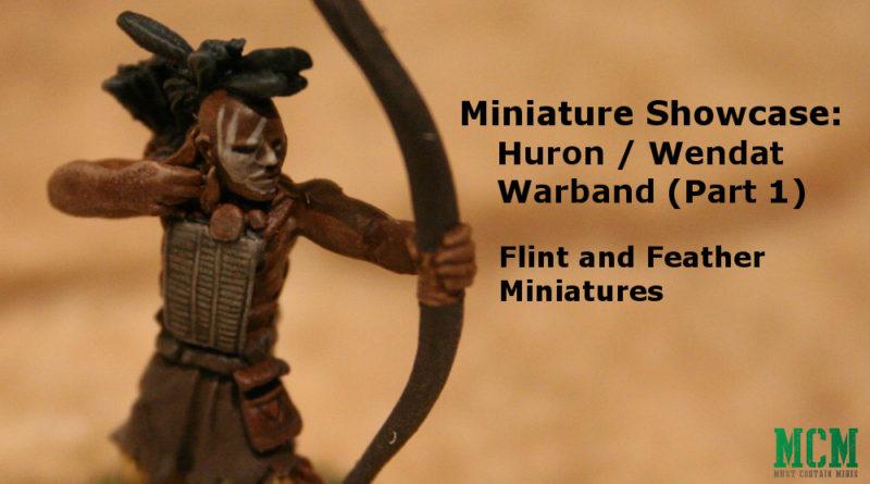 Flint and Feather Miniature Showcase Huron Wendat Native American Miniatures