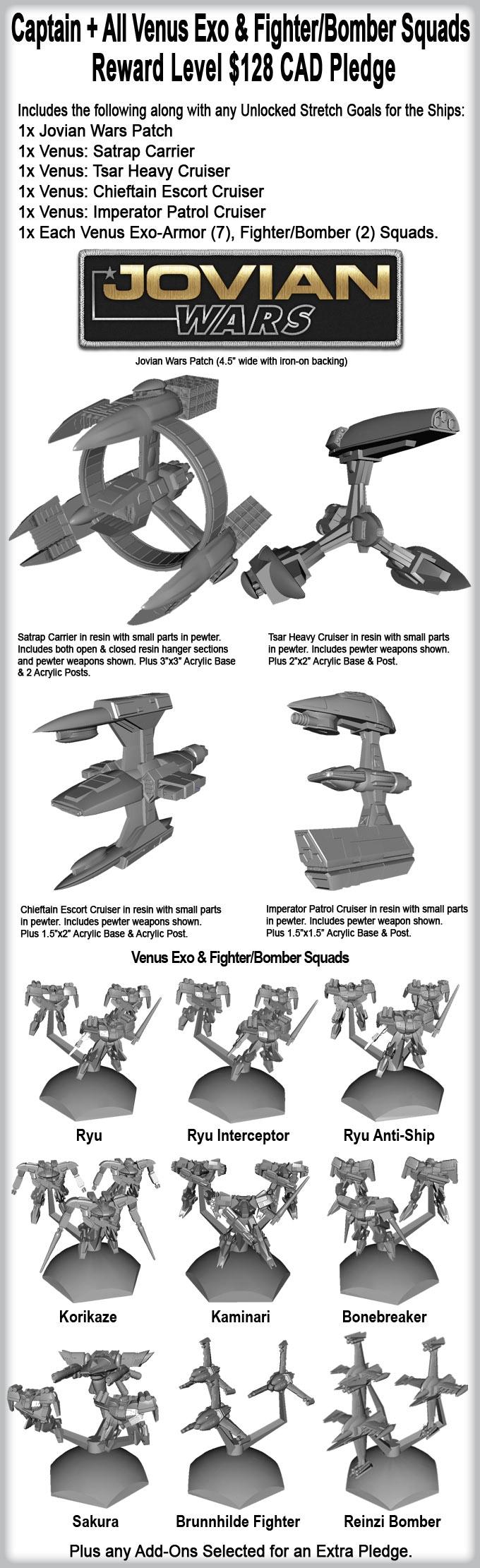 Jovian Wars Venus Kickstarter Pledge