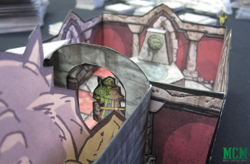 Exploring a PaperCraft Dungeon in an RPG - Paper Terrain