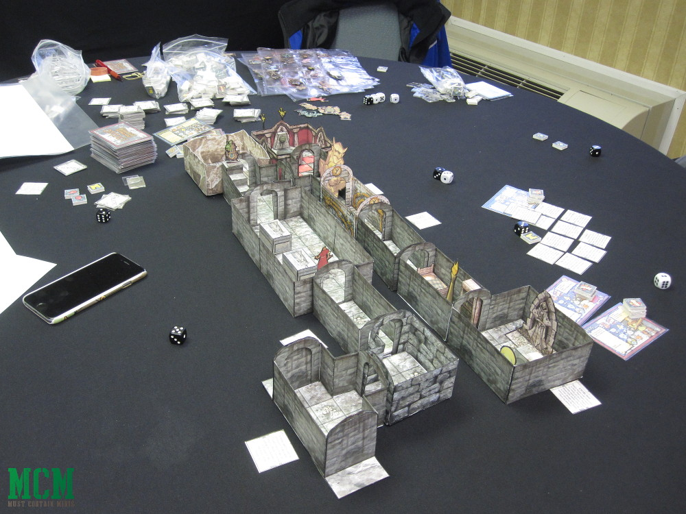 Paper craft 28mm dungeon - paper terrain and print and play games
