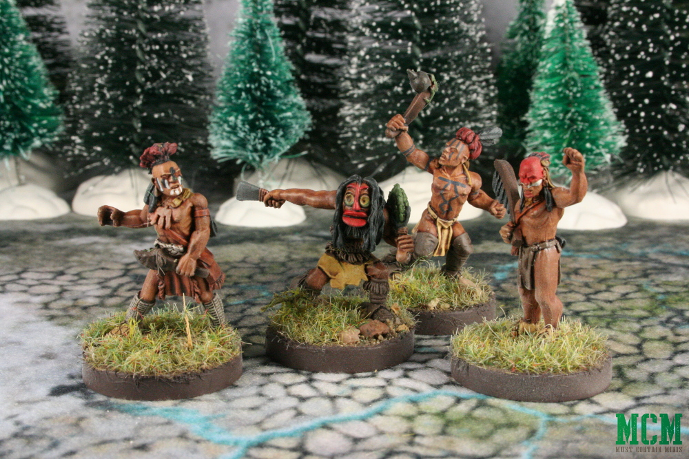 Native American 28mm miniatures