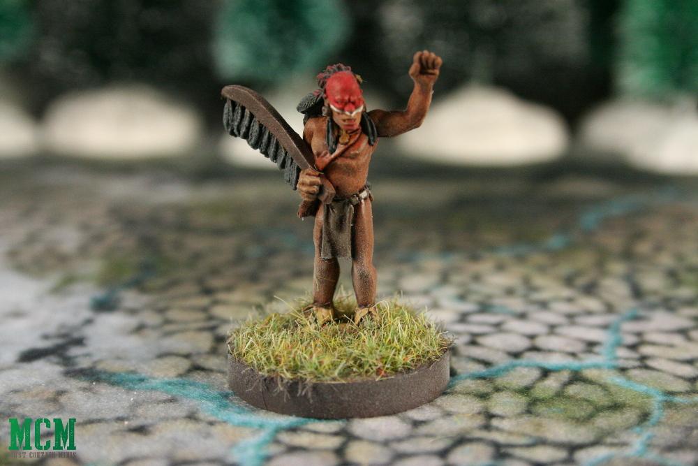 Huron Wendat Shaman Companion Miniature 28mm