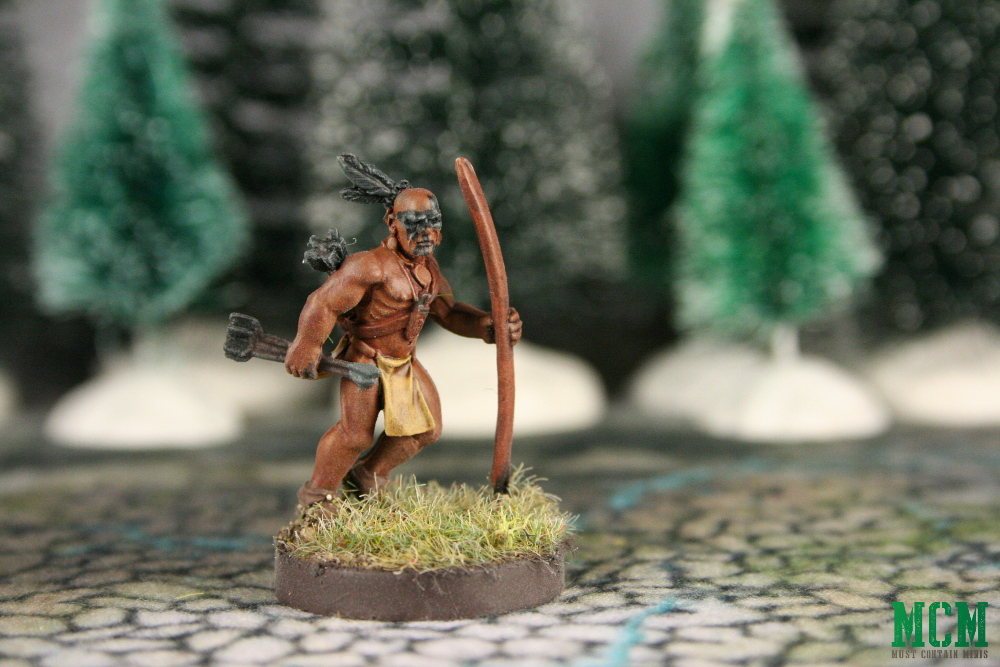 Flint and Feather Native American Archer Miniature