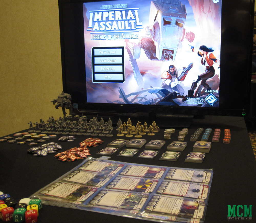Imperial Assault App on a Large Screen TV - Fantasy Flight Games