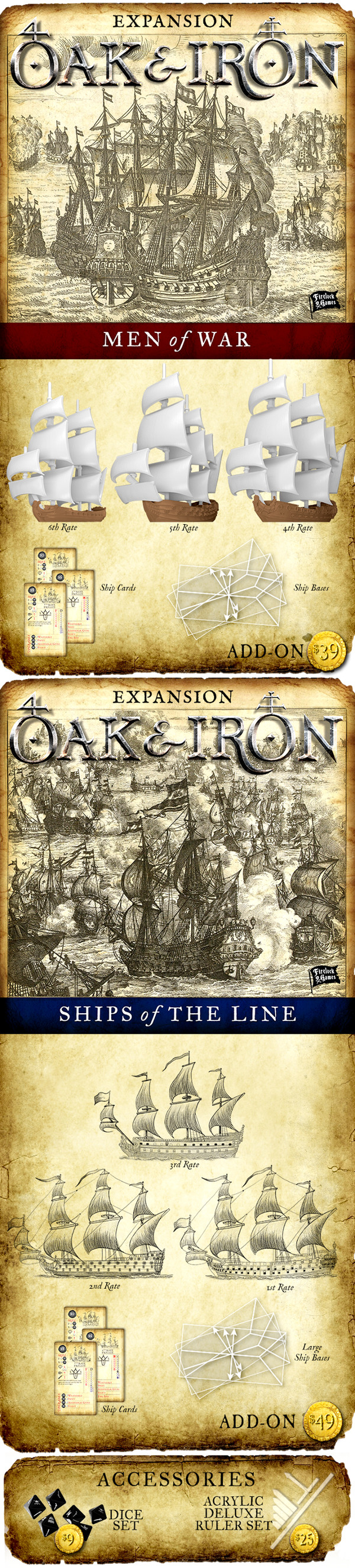 Oak & Iron Expansions