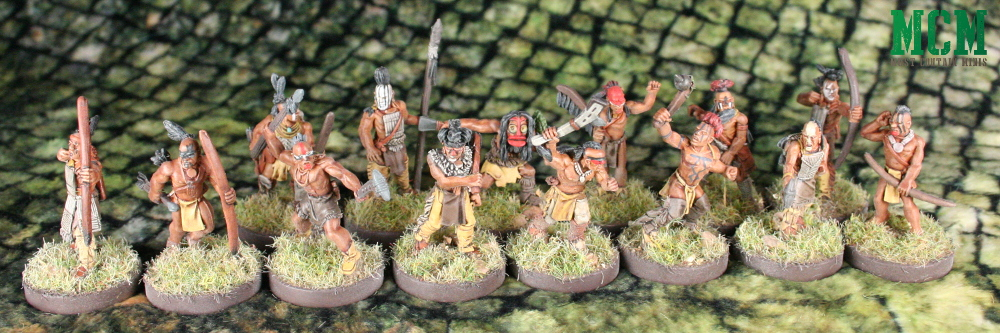 Native American 28mm miniatures for historical or fantasy gaming - Flint and Feather