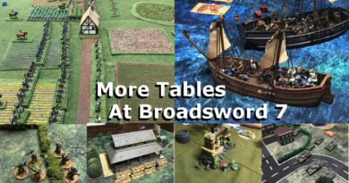Convention Gaming Tables at Broadsword 7 - Miniature Gaming Convention in Hamilton Ontario
