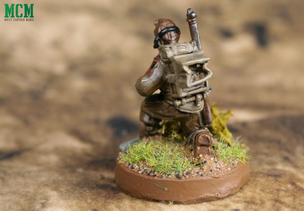 British Forward Observer with a radio pack - Bolt Action by Warlord Games