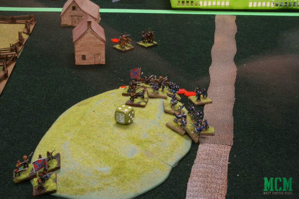 Taking a ridge in 15mm American Civil War gaming