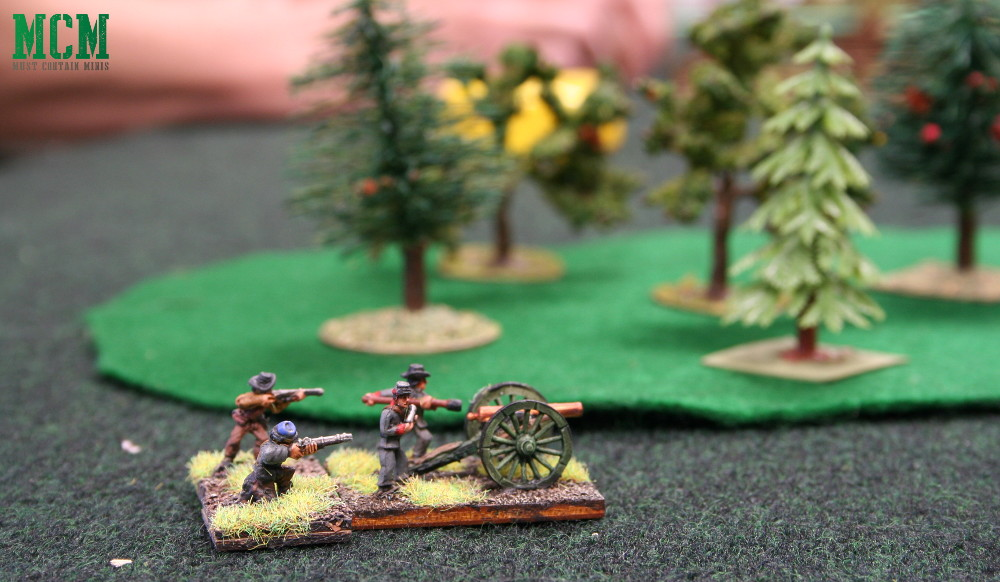 15mm American Civil War Cannon Team