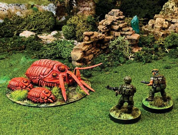 Bugs vs US troops - 28mm miniatures